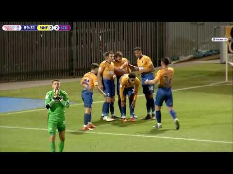 Timi Elsnik scores the third goal against Scunthorpe
