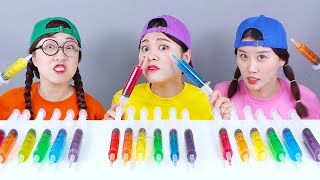 Jello Shooter Race Challenge 주사기 젤리 먹방 DONA 도나