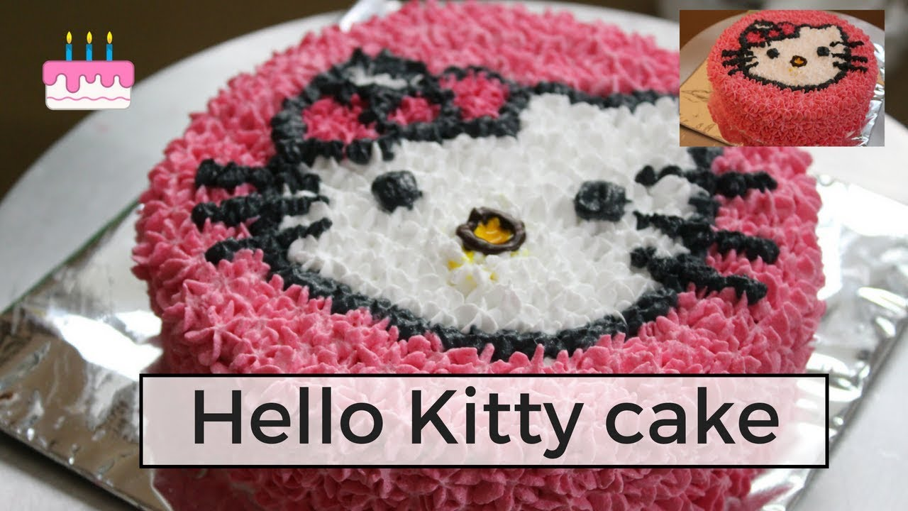 How To Make A Hello Kitty Cake With Icing Decoration Whipped Cream