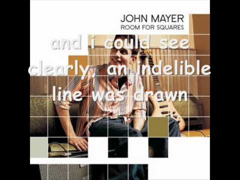 John Mayer - My Stupid Mouth Lyrics