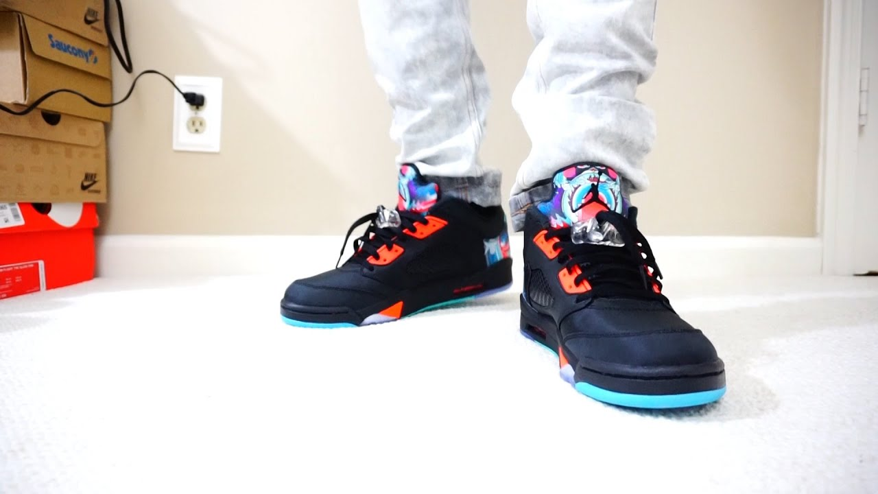 1e5ba228431a86 ... release date air jordan 5 v low chinese new year review on feet youtube  80f37 28bf5