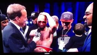 Ishe Smith Crying After First Title Win