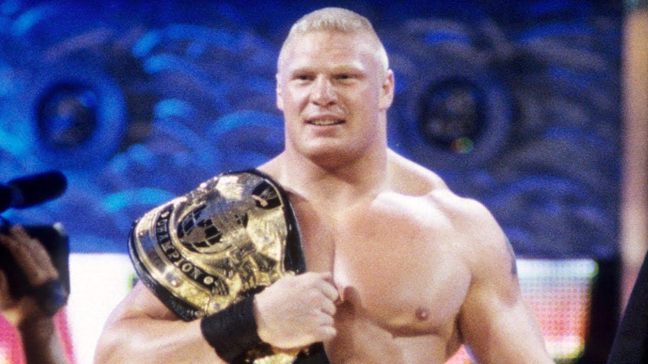 Brock Lesnars First Entrances As WWE Champion Raw Aug 26 2002