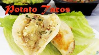 Potato tacos - Vegetarian Mexican recipe