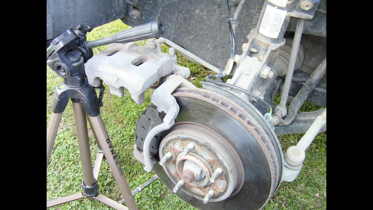 How to Replace Front Disc Brake Pads on Chevy Equinox  YouTube
