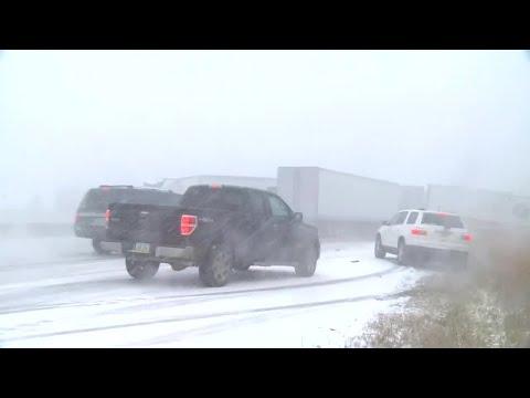 RAW: Watch As I-80 Pileup Happens