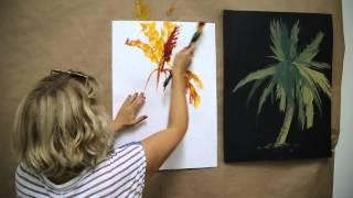ПАЛЬМА за минуту. Обучение быстрой живописи с 0-ля с Натали Котовой.