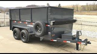 Lamar DM10 77x12' Hydraulic Low Profile Dump Trailer 4' High Side Deluxe  DM771225HIGHSIDES4