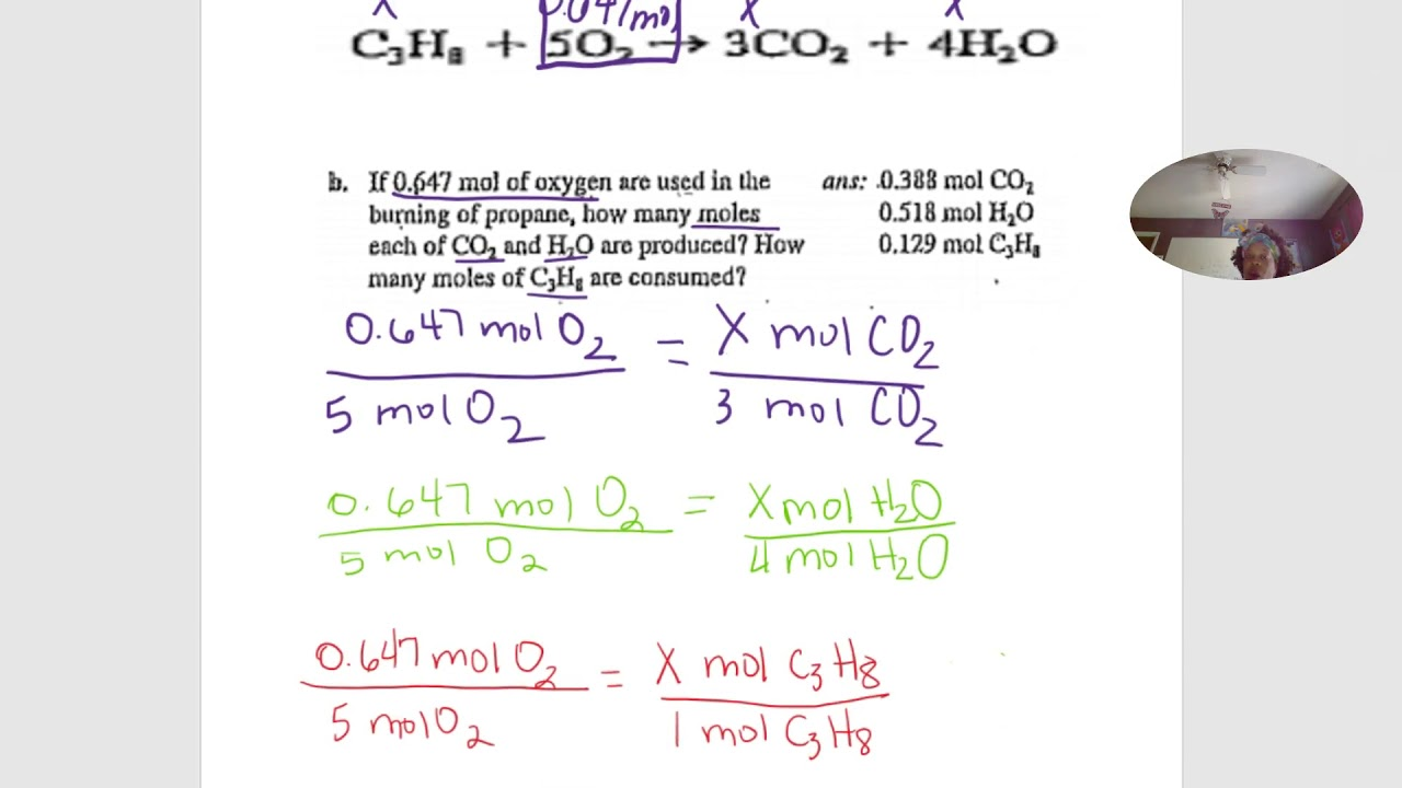 How To Calculate Chemistry Stoichiometry Mole Problems 3 Youtube