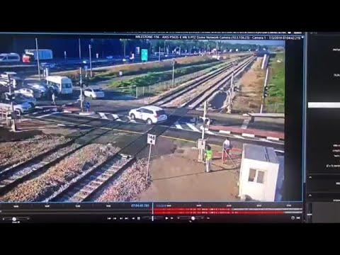 שני אירועים חמורים של פריצה לשטח המסילה שניות בודדות לפני מעבר הרכבת