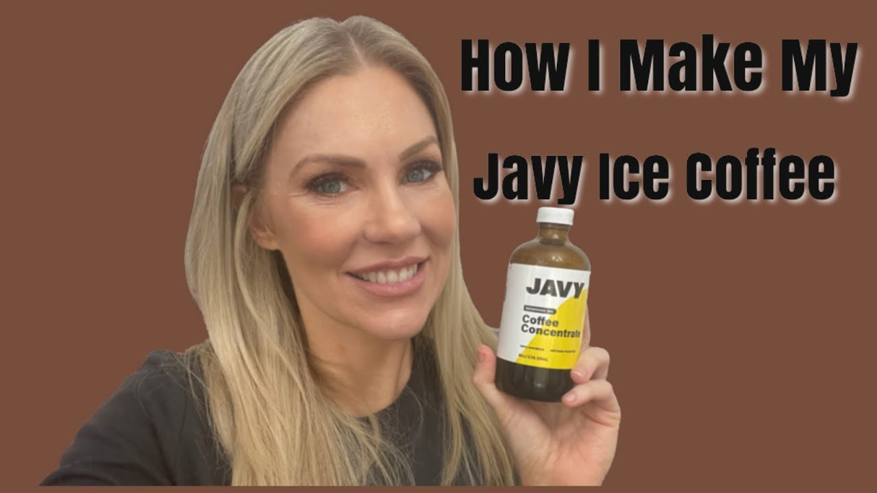 How I Make Iced Coffee with Javy Coffee Concentrate