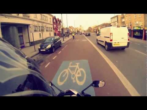 Friday evening, motorcycle ride in London / GoPro