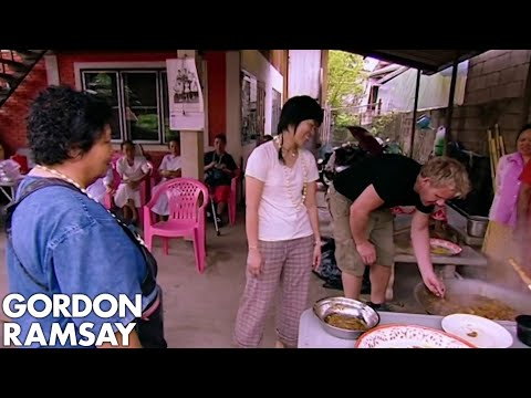 Gordon Ramsay Helps Prepare A Meal For Buddhist Monks | Gordon's Great Escape