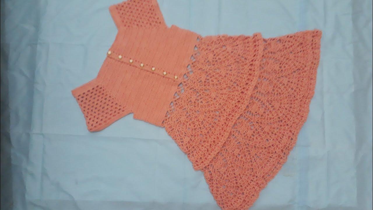 Vestido De Crochê Pra Menina De 9 A 10 Anos Parte 1