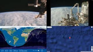 Sunlit Atlantic Clouds - NASA/ESA ISS LIVE Space Station With Map - 32 - 2018-07-19