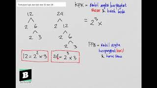 Download Lagu Tentukan KPK dan FPB dari 12 dan 24 mp3