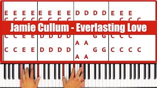♫ EASY - How To Play Everlasting Love Jamie Cullum Piano Tutorial Lesson - PGN Piano