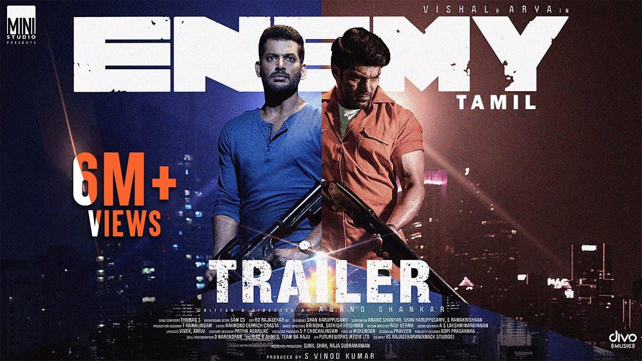 Download Enemy (Tamil) - Official Trailer   Vishal   Arya   Anand Shankar   Vinod Kumar   Thaman S   Sam CS