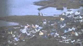 Flug über Berlevag an der BarentsSee