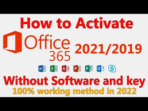 2020 How To Activate Microsoft Office 2019 365 For Free Without Product Key And Software Youtube