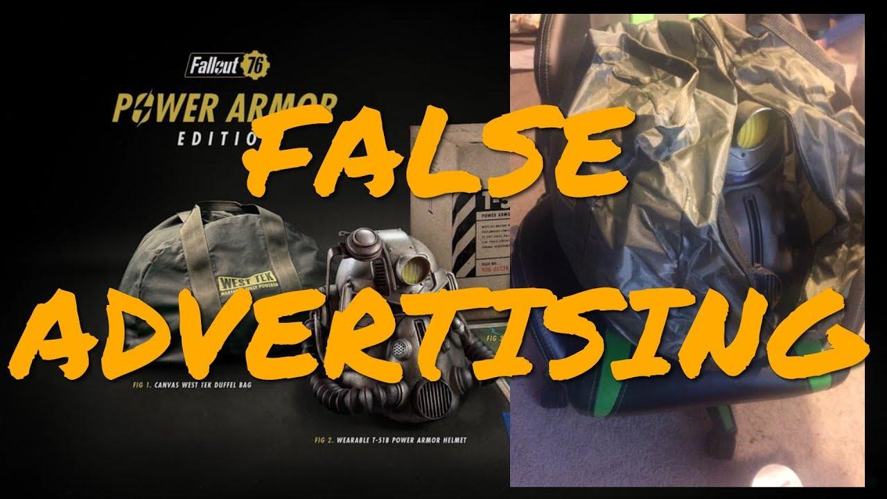 1e5d18c84f0 Fallout 76 Collectors Edition Comes With Crap Nylon Bag, Not The ...