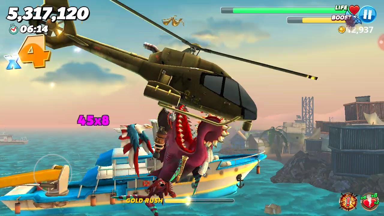 Hungry Shark World: Prehistoric shark Buzz the Helicaprion returns!!