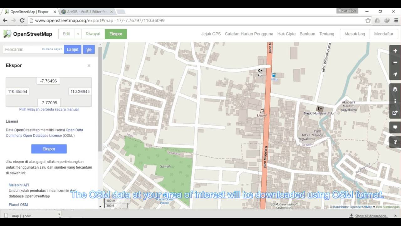 How to download Open Street Map Data