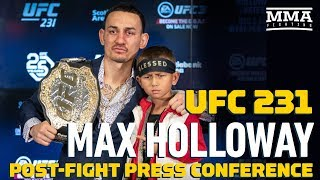 UFC 231: Max Holloway Post-Fight Press Conference - MMA Fighting