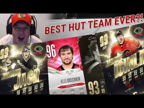 MY BEST HUT TEAM EVER?!   NHL 18 HUT TEAM BUILD