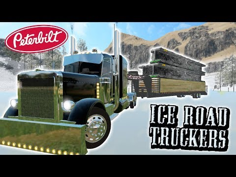 ICE ROAD TRUCKIN' | CONSTRUCTION LOAD | PETERBILT HEAVY HAULER | FARMING SIMULATOR 2017