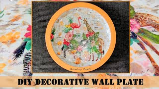 322. decorative wall plates for hanging-DIY -crystal decoupage-how to make decorative wall plate
