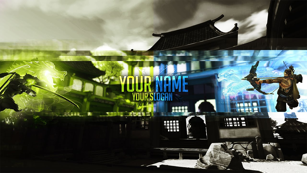 genji overwatch free banner template by ayzs gfx