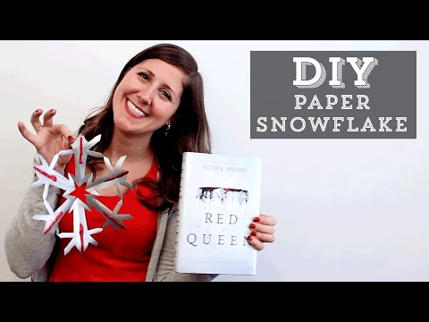 DIY: How to Make a Paper Snowflake Inspired by Red Queen