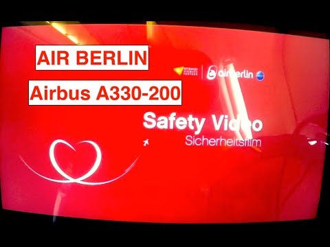 AIR BERLIN - Airbus A330-200 || Last Safety Video [*RARE*]