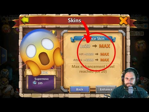 Maxing Out Skins | Skin Level 20 | Massive Extra | Castle Clash