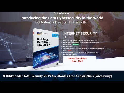 Bitdefender Total Security 2019 Six Months Free Subscription | TKW