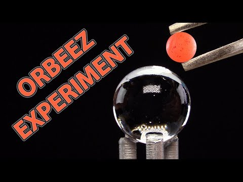 EXPERIMENT GLOWING 1000 DEGREE MINI METAL BALL VS ORBEEZ | SATISFYING VIDEO