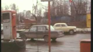 Дефицит бензина на АЗС Москвы. 1990 год.