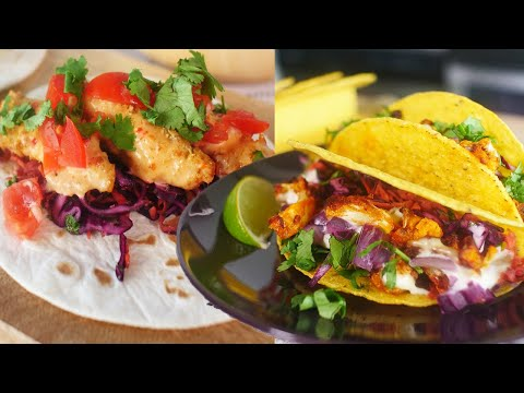 3 VEGAN TACOS | Buffalo Cauliflower Wing Tacos | Bang Bang Fish Tacos | The Edgy Veg