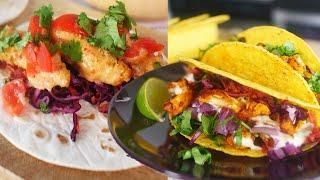 3 VEGAN TACOS | Buffalo Cauliflower Wing Tacos | Bang Bang Fish Tacos | The Edgy Veg