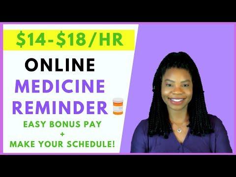 Work-At-Home Medicine Reminder | Online, Remote Work From Home Jobs 2020