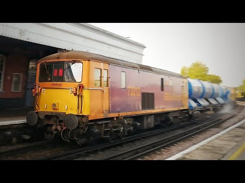 GBRf 73 213 +73 212 TnT, Work The First Rail Head Treatment Train Past Whitstable Of 2020, 19/09/20