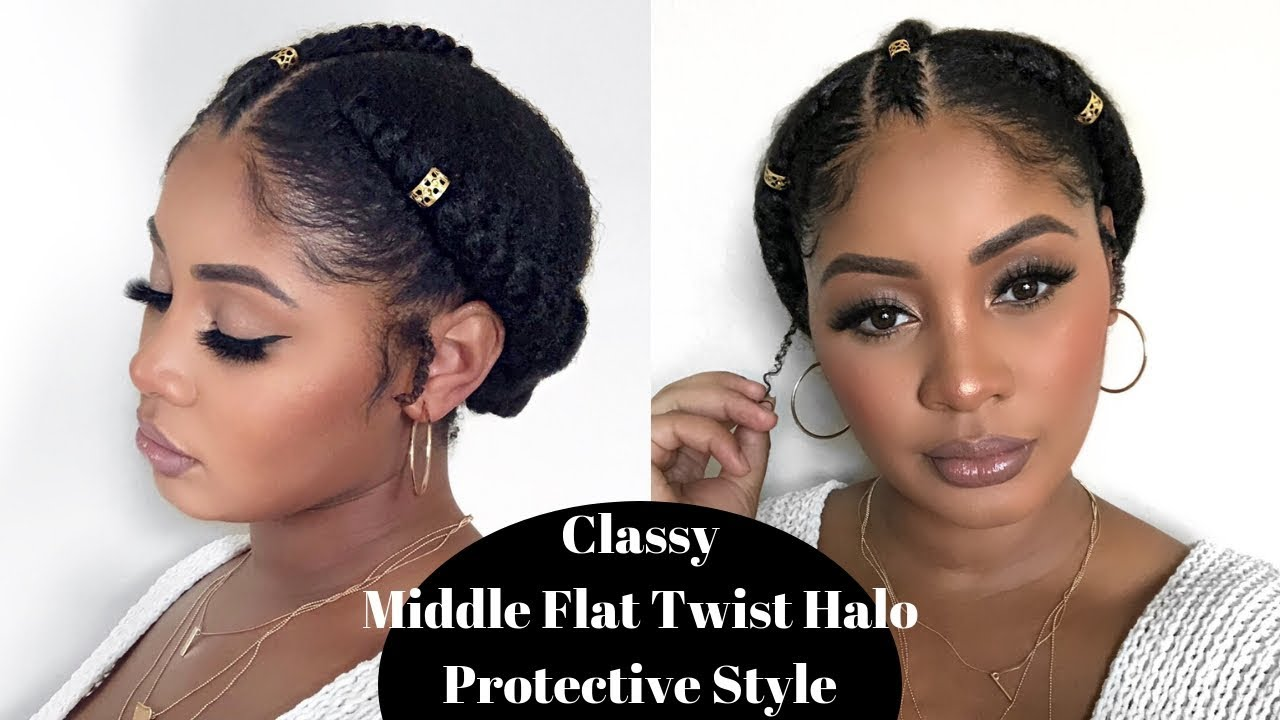 quick natural hair protective style