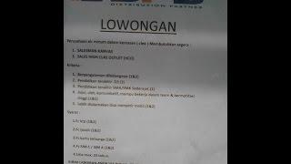 Loker Purwokerto, Purbalingga, Banyumas, Cilacap, Banjarnegara, Kebumen