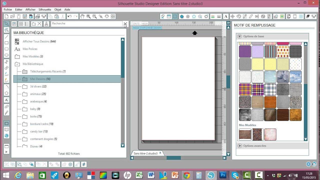 comment enregistrer des motifs de remplissage en mod u00e8le sur silhouette studio