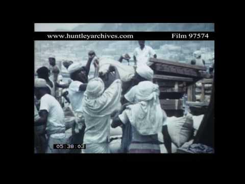 Mukalla, Yemen in the mid 1960's.  Archive film 97574