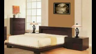 Bliss Platform Bedroom Set - Dark Chocolate Wenge Finish