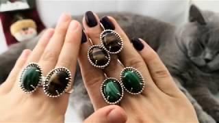 Обзор новинок:???????????? Серебряные украшения с камнями(серьги, кольца) и британский котик????