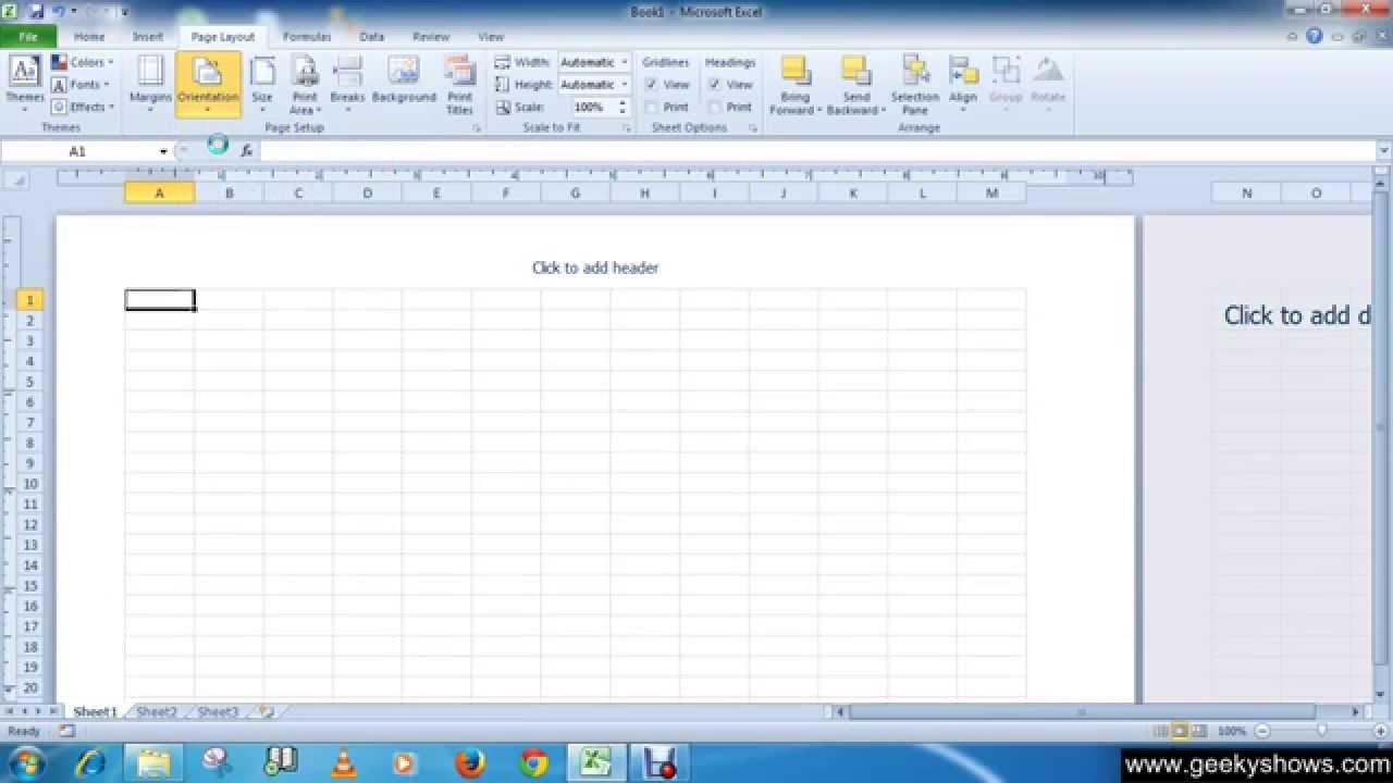 Add custom paper size excel 2007
