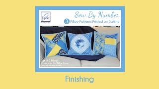 Sew By Number Pillows - Finishing